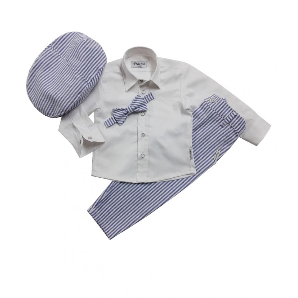 Plavo-beli/pruge 2 komplet za male dečake