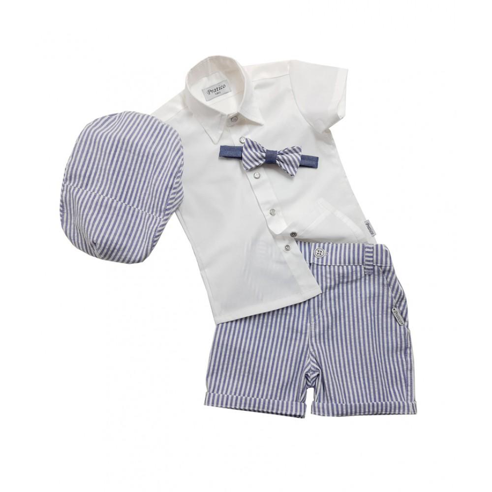 Plavo-beli/pruge 3 komplet za male dečake