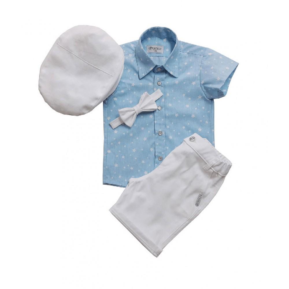 Plavo/beli/zvezde 2 komplet za male dečake