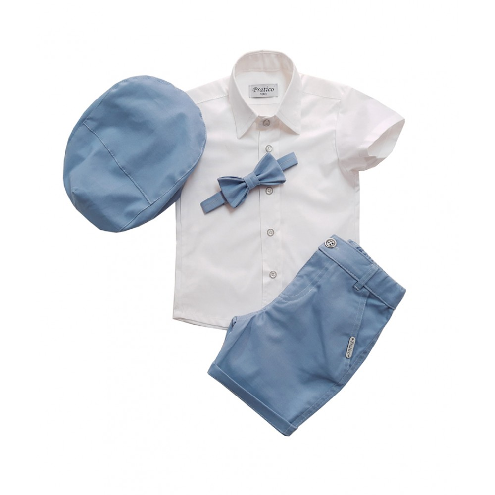 Plavo/beli 2 komplet za male dečake