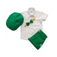 Zeleni/žuti/zvezde komplet za male dečake