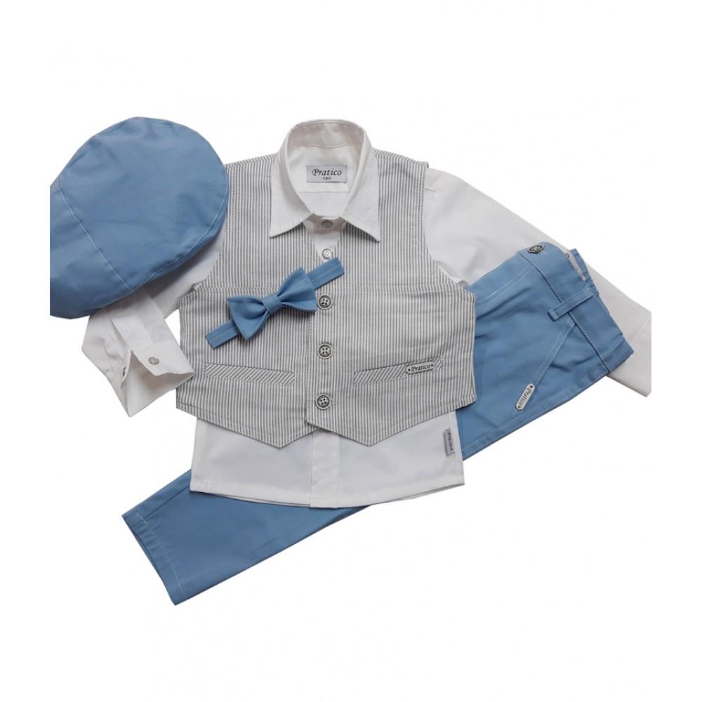 Plavo/beli/pruge komplet za male dečake