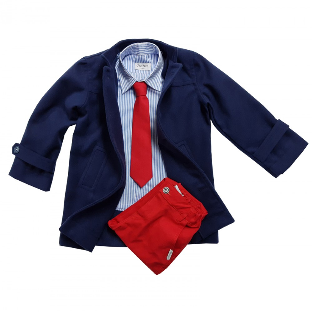 Teget/crveno/plavi sa kaputom