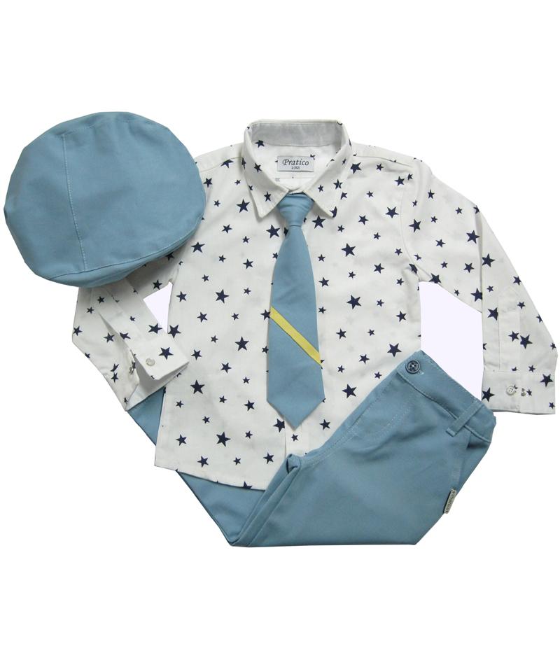 Plavi/zvezde četvorodelni
